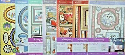 Classic Christmas Foiled A4 Hunkydory Toppers & Matching A4 Card NEW
