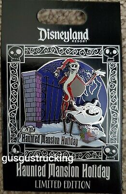 New Disney Parks Pin (Haunted Mansion Holiday - Jack Skellington Zero) LE 3000