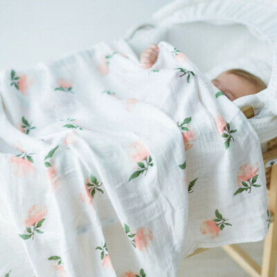 Soft Touch Large Cotton Muslin Swaddle Squares Blanket for Baby Good CY1