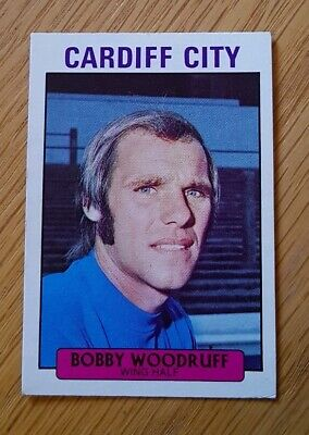 A/&bc FOOTBALL 1973 carte avec Blue Back 180 TOMMY Booth Manchester City