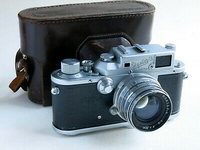 A ZORKI 3  35mm. RANGEFINDER CAMERA.