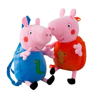 Cute PEPPA PIG George Family Soft toy SCHOOL BAG Gifts Character Doll Figures