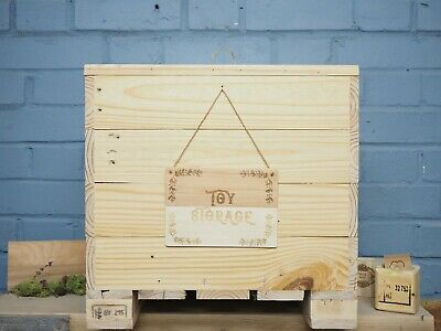 PERSONALISED Engraved Small Wooden ToyBOX,reclaimed wood pallets, including moss