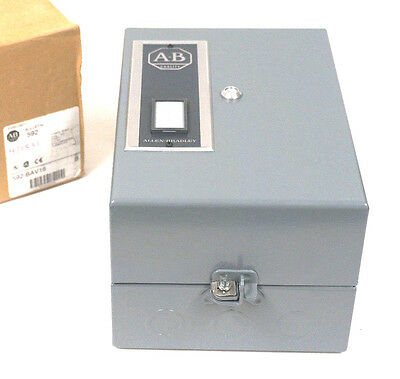 New Allen Bradley 592-Bav16 Manual Reset Enclosure Ser. B, 592Bav16
