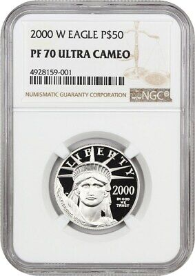 2000-W Platinum Eagle NGC PR 70 UCAM - Proof American platinum Eagle