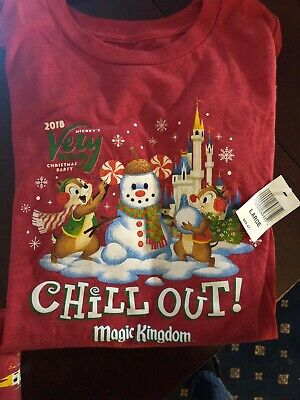 DISNEY Parks Mickey's Very Merry Christmas Party Youth Large 2018 T-shirt