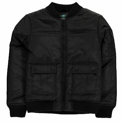 Firetrap Bomber Jacket Youngster Boys - Midweight Coat Top Full Length Sleeve