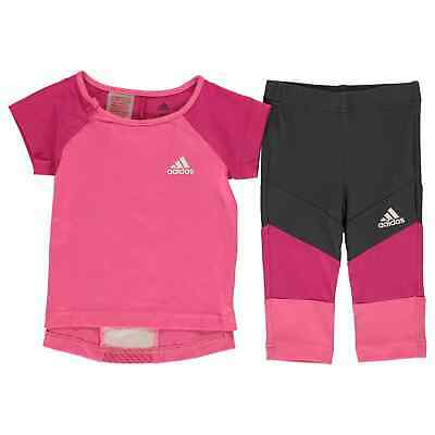 adidas Baby Girls T Shirt And Leggings Set Clothing Pants Trousers Bottoms Tee