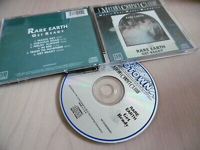 Rare Earth : Get Ready Cd Album Motown Magic Key In Bed Tobacco Road Get Ready
