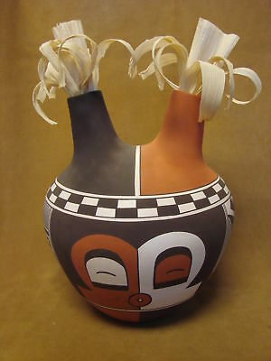 Laguna Pueblo Pottery Hand Painted Pot by Myron Sarracino! hand Coiled