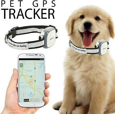 GPS Tracker for dog cats pets collar attachment locator waterproofsmartphone