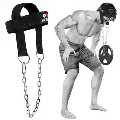 Head Harness Neck Muscles Builder Belts Weight Lifting Chain Gym Exercise P A3K4