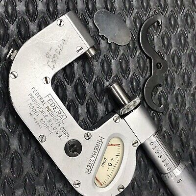 "FEDERAL 200P-1 INDICATING MICROMETER  MIKEMASTER 0-1""- machinist toolmaker tools"