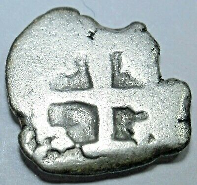 1600's-1700's Spanish Shipwreck Silver 1/2 Reales Old Antique Pirate Cob Coin
