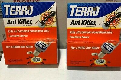 2 TERRO 1 oz Liquid Ant Killer ll T100 Indoor/Outdoor Bait Pest Control Borax