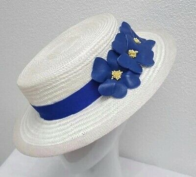 Cessiah Alice Millinery Boater Hat Fascinator Headpiece RACES
