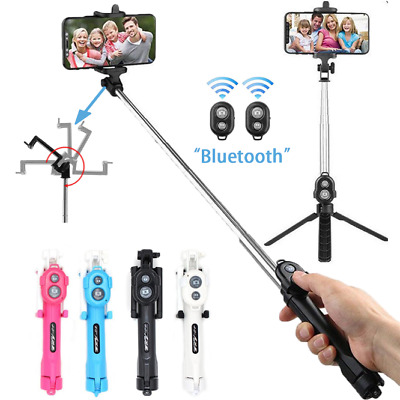 Unipod Selfie Stick Handheld Tripod Bluetooth Shutter For All Mobile Phones