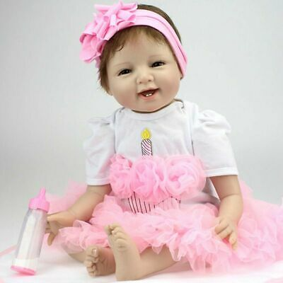 "55cm 22""Reborn Baby Dolls Soft Silicone Vinyl RealLife Lifelike Girl Toy Gifts"