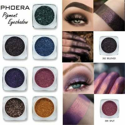 PHOERA Matte Eyeshadow Shimmer Glitter Eye Shadow Powder Palette Cosmetic Makeup