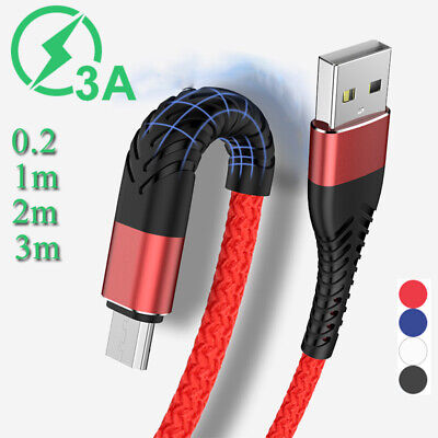 Heavy Duty Fast Charge Micro USB Cable For Samsung S6 S7 Long Short Charger Lead