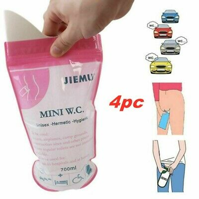 4xDisposable Unisex Vomit Bags Urinal Toilet Emergency Pee Bag Camping Car Unsex