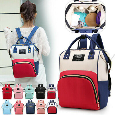 UK Large Baby Diaper Nappy Mummy Hospital Backpack Maternity Changing Bag Tote