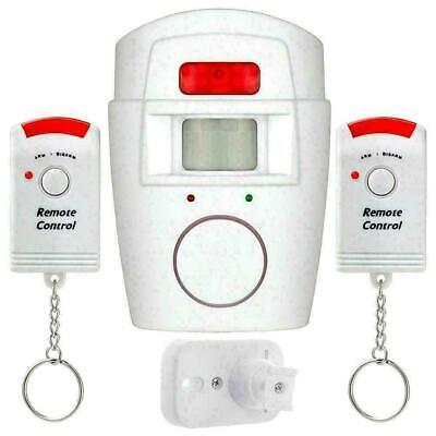 Wireless PIR Motion Sensor Alarm With 2 Remote Controllers For Home N2R4 Sh L3I2