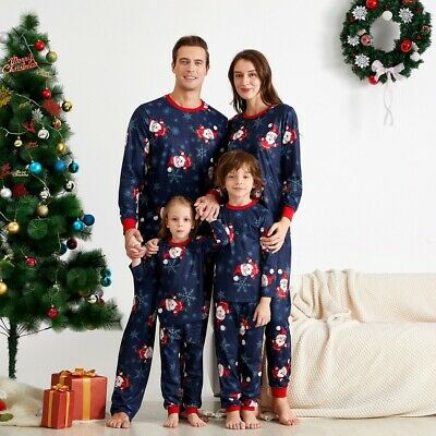 FAMILY Parent-child SuitS Homewear Snowflake  Print Christmas Lounge Pajamas Set