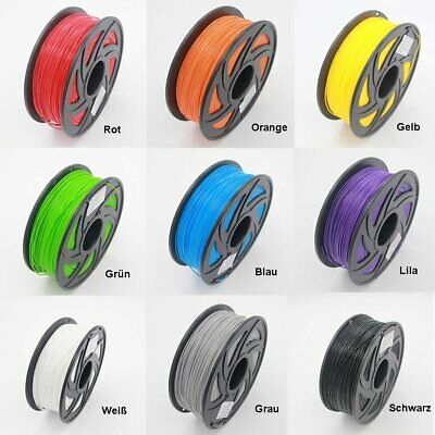 3D Drucker Filament  PLA 1.75mm Printer Filament Rolle mit Spule 1kg