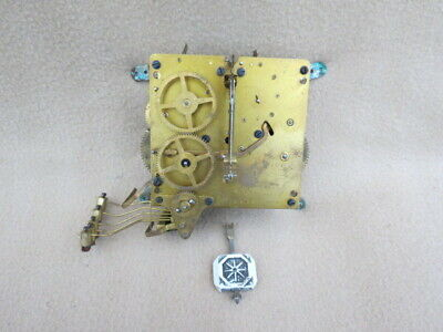 Vintage Kienzle Westminster Chime Mantel Clock Movement, Hands, And Pendulum