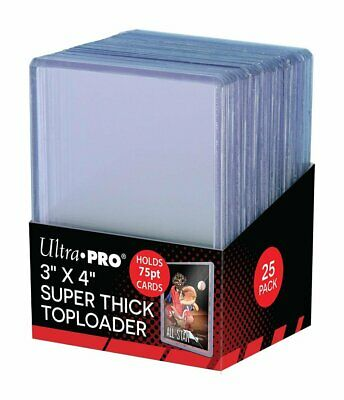 Ultra Pro 3 x 4 Super Thick Baseball Card Toploaders Holds 75pt Cards