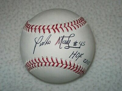 Pedro Martinez Hof #45 Inscribed Signed Autographed Mlb Baseball Expos Red Sox