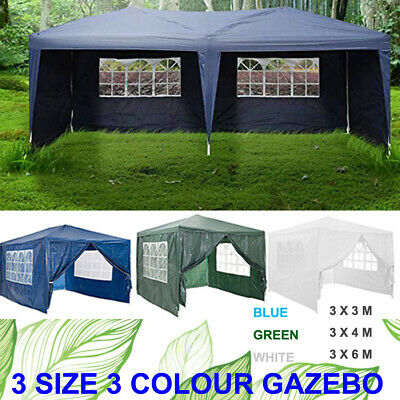 3x6M Car Shelter Tent Garden Gazebo Marquee Outdoor Waterproof Party Canopy Blue