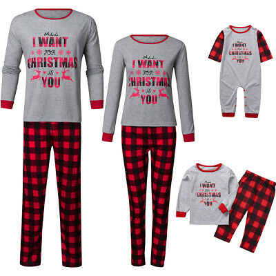 6079 Christmas FAMILY Parent-child SuitS Homewear Lounge Pajamas Top+Pant set