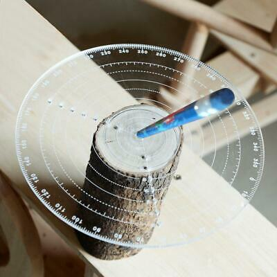 300mm Round Center Finder Compass Clear Acrylic for Drawing Circles, Lathe Work