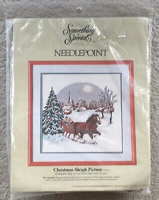 Something Special Needlepoint Kit Christmas Sleigh Ride Picture 30540 NOS 1987