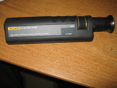Fluke Networks FT120 Fiber Viewer Fiber Optic Microscope 200x