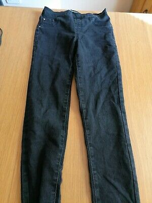 Miss E-vie Black Jeggings - Size 12 Years