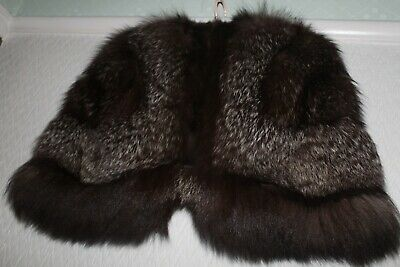 LUXURIOUS vintage1940's REAL FOX FUR SHRUG STOLE JACKET CAPE WRAP VERY GOOD COND
