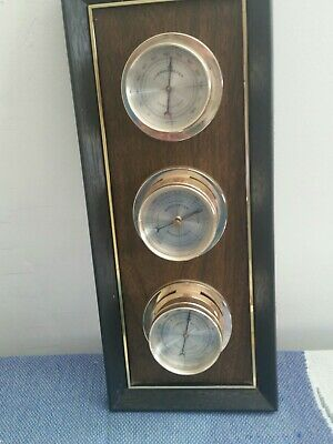 Vintage Springfield Thermometer Barometer Humidity Weather Station Wall Mount