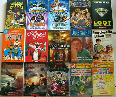 Nice Lot Of 15 Boys Paperback Chapter Books Ages 8 -12 * * * Fun Titles! * * *