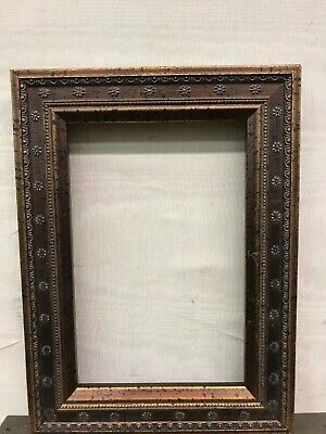 4x6 Ornate Bronze/Gold Solid Wood Picture Frame