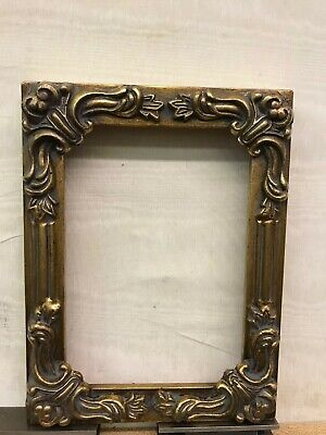 Antique 5x7 Gold Ornate Seamless Solid Wood Picture Frame