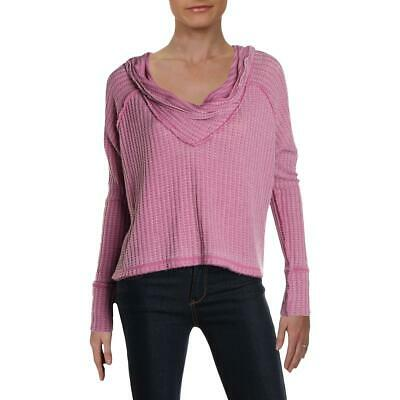 We The Free Womens Wildcat Cowl Neck Thermal Pullover Sweater Top BHFO 2529