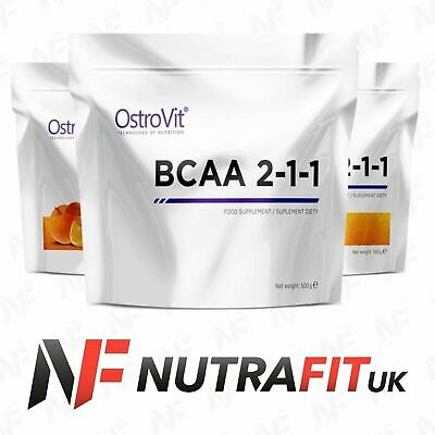 OSTROVIT BCAA 2-1-1 workout amino acid recovery lean muscles leucine 500g