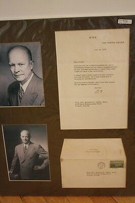 Dwight D Eisenhower Signed Letter To Brig. Gen. Caffey On White House Stationary