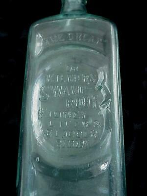 Antique Great Dr Kilmer's Swamp Root Liver Remedy Aqua Glass Medicine Bottle