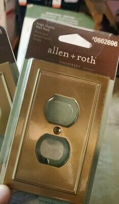 ALLEN ROTH - NEW Pair Of 2 Oil Rubbed Bronze Finish Single Duplex Wall Plate Lot