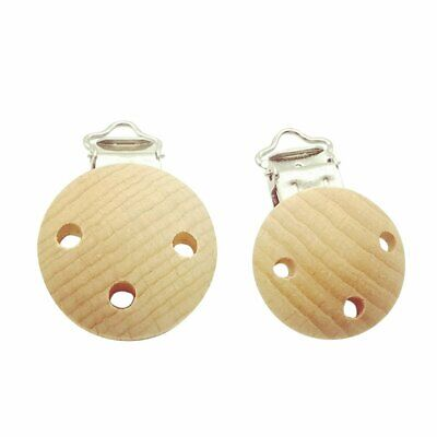 Wooden Soother Clip Nursing Accessories Beech Pacifier Clips Chewable Teething C