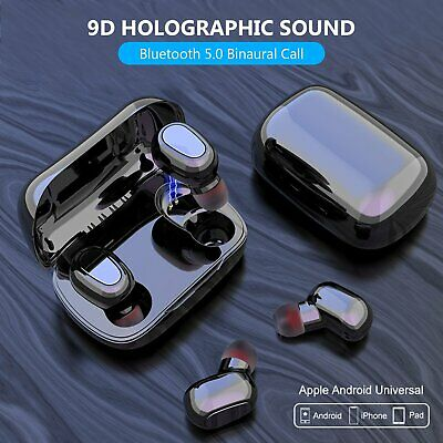Bluetooth 5.0 Headset TWS Wireless Earphones Mini Stereo Headphones Earbuds 2019
